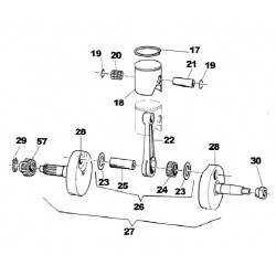 PIN CONNECTING ROD 20X50,4 N.25 IN THE ILLUSTRATION Vitiracing