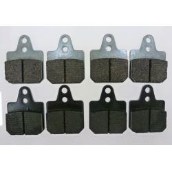 KIT PAD BRAKE 40X38 RQ BLACK (4 PIECES) + HF GREY (4 PIECES)