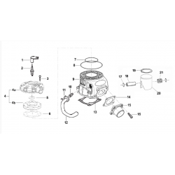 PISTONE VERTEX  4° CPL CON FASCIA 0,8 mm 1R - TM RACING N.20 SULLA FIGURA