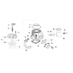 GUARNIZIONE TESTA KZ10C 0.10 mm N.6 SULLA FIGURA